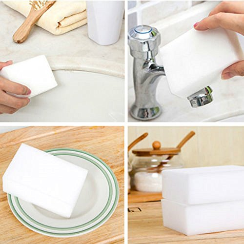 100PCS Cleaning Magic Sponge Eraser Melamine Cleaner Multi-functional - Car Scratches How Erase To