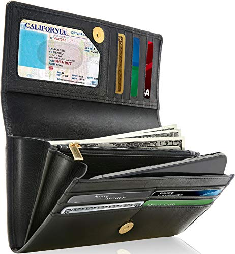 Accordion Day - Leather Clutch Wallets For Women Accordion - RFID Womens Wallet Organizer Mothers Day Gifts