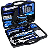 Tool Kit. Best Portable Big Basic Starter Professional Household DIY Hand Mixed Repair Set W/Storage Toolbox For Home, Garage, Office For Men&Women. Includes Screwdriver, Wrench, Pliers, Etc.