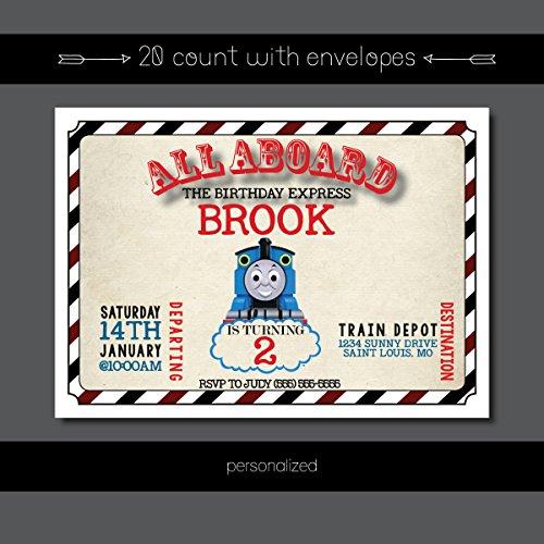Custom Birthday Invitation - Thomas the Train, Train,