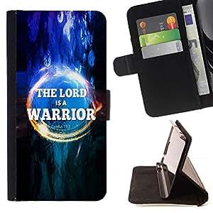 Momo Phone Case / Flip Funda de Cuero Case Cover - BIBLIA El Se?or es un guerrero - ?xodo 15: 3; - Samsung Galaxy S3 III I9300