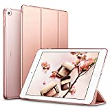 ESR Yippee Smart Case for the iPad Air 2 - Smart Case Cover [Synthetic Leather] Translucent Frosted Back Magnetic Cover with Auto Sleep Wake Function [Light Weight] (Rose Gold)