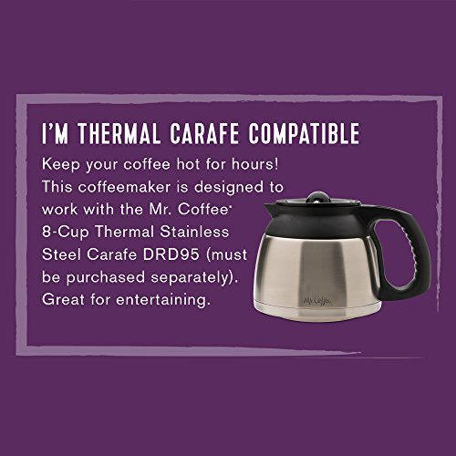 Mr Coffee Programmable Coffee Maker Cgx23 : Mr. Coffee 12-Cup Programmable Coffee Maker with Thermal Carafe Option, Chrome - Buy Online in ...