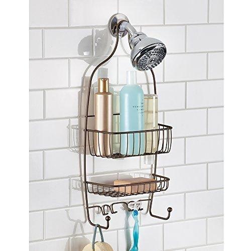 Plated Basin Mixer (Shower Caddy Bathroom Shelf Wall Storage Rack Bath Organizer Soap Holder Shelves)