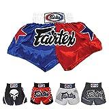 Fairtex Muay Thai Boxing Shorts (Patriot Blue/Red BS110,XL)