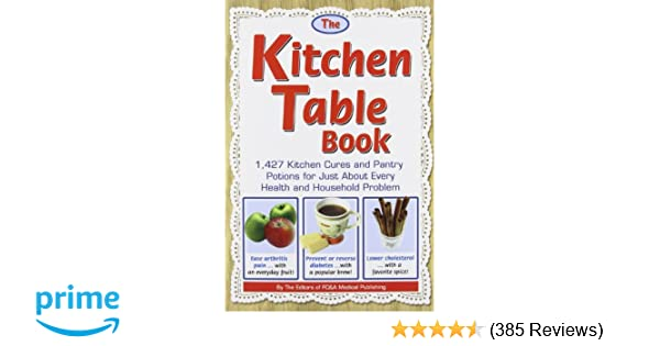 The kitchen table book 1 427 kitchen cures and pantry potions for the kitchen table book 1 427 kitchen cures and pantry potions for just about every health and household problem fc a medical publishing 9781932470925 workwithnaturefo