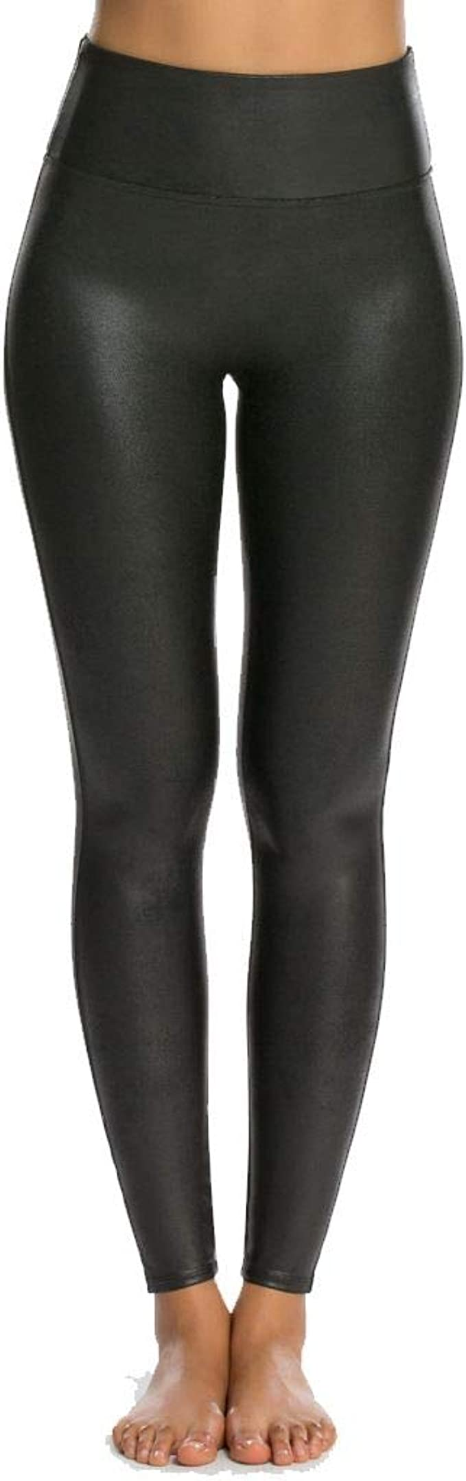SPANX Damen Shaping-Leggings in Leder-Optik Leggings Shapewear
