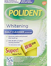 Polident Denture Cleanser Overnight Whitening, 36ct (Twin Pack)