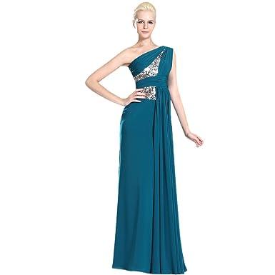 795287d5d Dearta Women's Sheath/Column One-Shoulder Floor-Length Chiffon Evening  Dresses at Amazon Women's Clothing store: