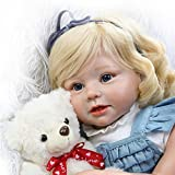 Soft Silicone Realistic Reborn Toddlers Girls Baby Dolls 28'' Babies Kids Toys With Blonde Hair
