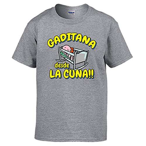 Diver Camisetas Camiseta Gaditana Desde la Cuna Cádiz fútbol: Amazon.es: Ropa y accesorios