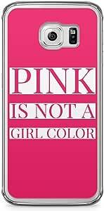 Samsung Galaxy S6 Edge Transparent Edge Phone Case Pink Phone Case Girl Samsung Galaxy S6 Edge Transparent Edge Phone Case Him Case For Her