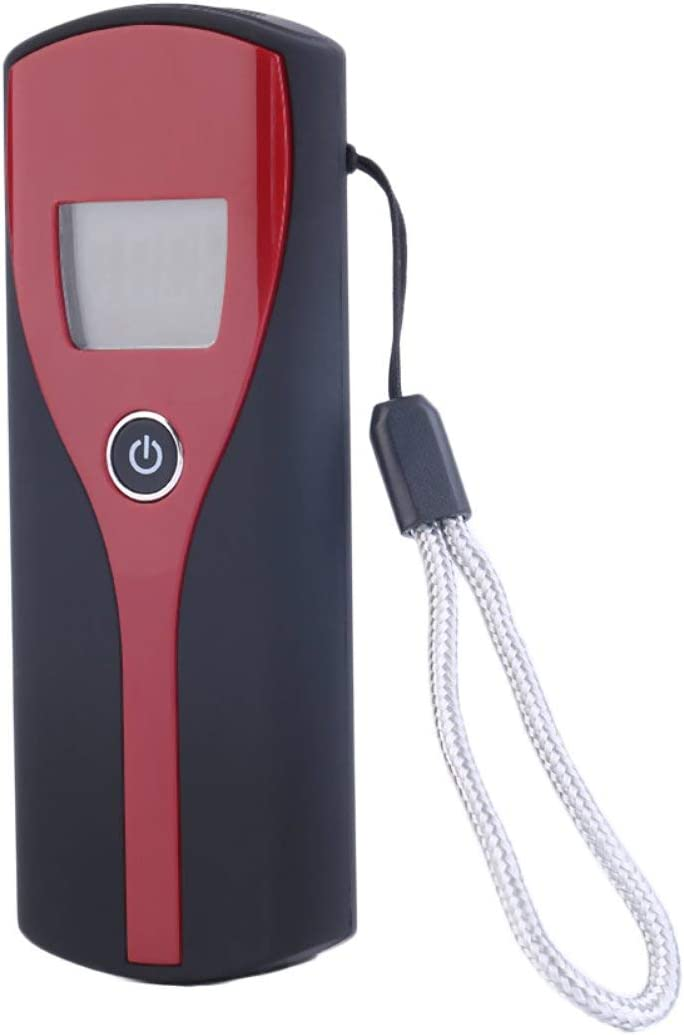 Black /& Wine Red Plastic Quick Response and Resume Universal Professional Digital LCD Display Alcohol Breath Alert Breath Tester