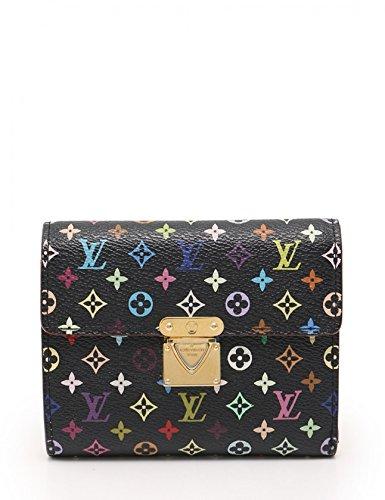 (ルイヴィトン) LOUIS VUITTON ポルトフォイユ コアラ モノグラムマルチカラー 三つ折り財布 PVC レザー 黒 M58015 中古 B07FX41XJ4  -