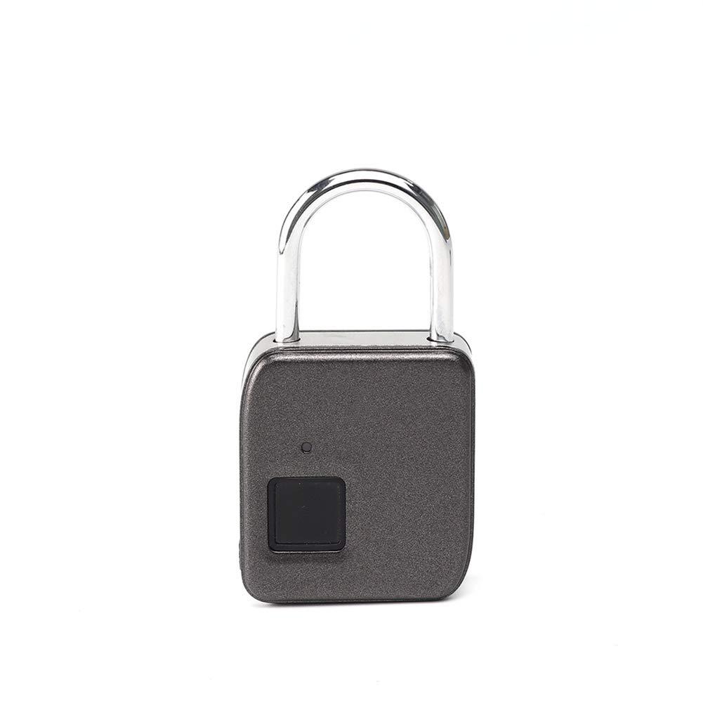 YMXLJJ Smart Fingerprint Padlock Waterproof Zinc Alloy Safety Lock Finger Biometric Door Lock 360° Unlock for Suitcases, Cabinets, Bicycles,Door,Silver
