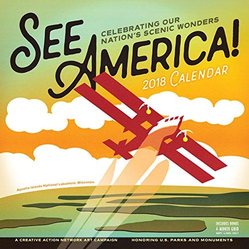 See America! Wall Calendar 2018 cover