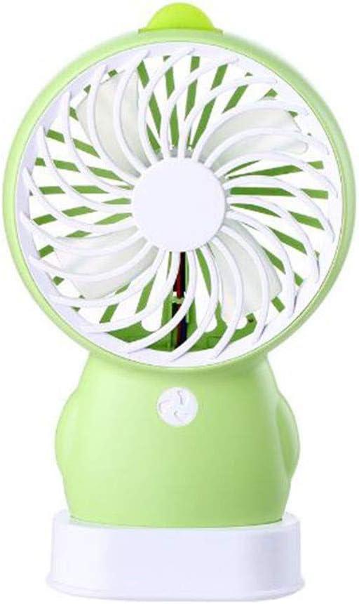 Mini ventilador de mano, con pilas, recargable, portátil ...