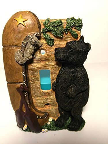 - Figi Bear Mountain Hand Painted Switch Plate Switchplate Cover