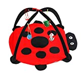 Yunt Cat Mice Activity Center with Hanging Toy Balls,Foldable Pet Activity Play Mat Helps Cats Get Exercise and Stay Active
