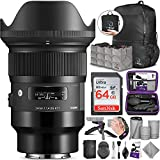 Sigma 24mm f/1.4 DG HSM Art Lens for Sony E Mount Cameras with Altura Photo Advanced Accessory and Travel Bundle