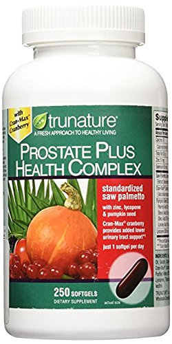 TruNature Prostate Plus Health Complex - Saw Palmetto with Zinc, Lycopene, Pumpkin Seed - 250 - Prostate Supplements Health