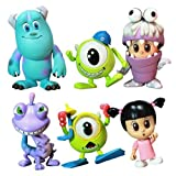Monsters, Inc. Hot Toys 3 Inch Mini Cosbaby Set of 6 Figures [Mike, Sulley, Boo, Randall, Boo Monster Ver. & Mike Diver Ver.] by Monster's Inc.