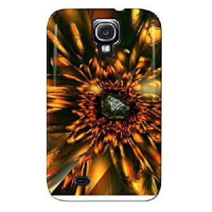 Gold Sunflower TPU Yellow For Sumsang Galaxy S4 Case Cover