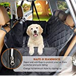 AMZPET Dog Car Seat Cover for Dogs, Waterproof with Door Protection, Durable Nonslip Scratch Proof Washable Pet Back…