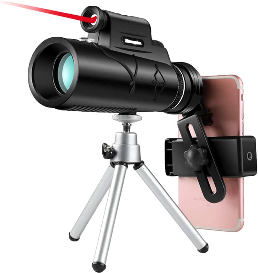 ZLHY Single-Tube Mobile Phone Telescope Hd High-Powered Night Vision Upgrade Version Comes with Laser Light