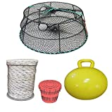 KUFA Sports (CT79+PAM5 Vinyl Coated Crab Ring Trap with Crabbing Accessory Combo