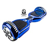 Gyrocopters Pro 2.0 - Hoverboard Chrome Blue UL2272 certified With GPS, APP, Bluetooth, Speakers and LED Lights