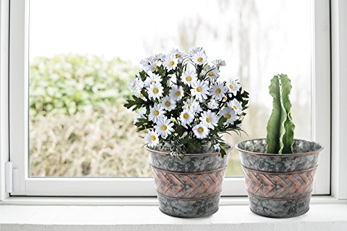 9-inch-gardening-pots-galvanized-planters-set-of-2-indoor-flower-plant-containers-old-silver