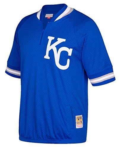 Kansas City Royals Mitchell & Ness MLB Men's Authentic 1/4 Zip Batting Practice Jacket (3XL - 56)