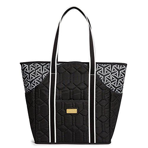 cinda b. Tennis Court Bag, Jet Set Black by Cinda b.
