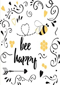 Bee Happy - A JOURNAL (Be Happy - College Rule)