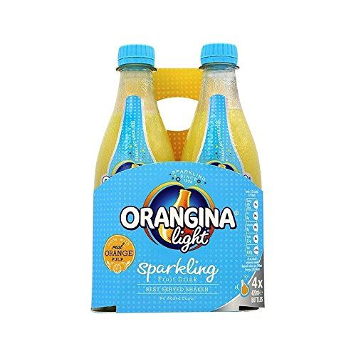 Orangina Light Sparkling Fruit Drink 4 x 420ml