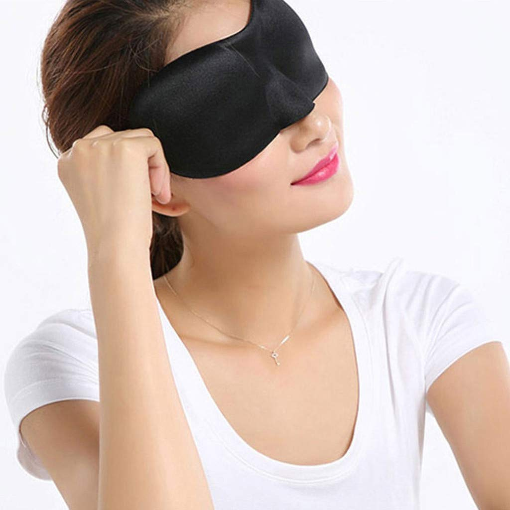 Hot Pink Adjustable Strap Upgraded Contoured 3D Eye Mask Eye Cover Soft /& Comfortable for Travel Sleeping Aid Shift Work Transser Sleep Mask Eye Mask for Woman and Man