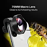 Super Marco Phone Camera Lens - Pholes Universal 75mm Super Marco Phone Camera Lens Professional Clip-On Cell Phone Camera Lenses for iPhone, Android, Samsung Mobile Phones and Tablets, Aluminum Clip