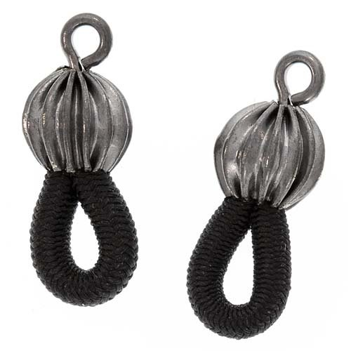 Beadaholique Fancy Ends for Eyeglass Chain/Holder, Black, pair of 6(12 -