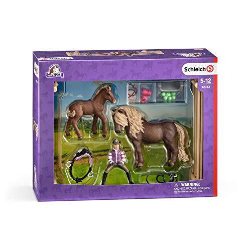 Schleich Rider with Icelandic Ponies Playset, used for sale  Delivered anywhere in USA