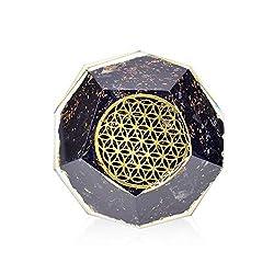Black Tourmaline Emf Protection Dodecahedron Healing Crystal