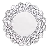 HFM500239 - HOFFMASTER Cambridge Lace Doilies, Round, 12amp;quot;, White