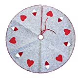 Tree Skirts - Red Gray 100cm Christmas Tree Skirt Base Floor Mat Cover Diy Party Home Decoration - Modern Nightmare Ivory Inch 20 15 Table Navy Rustic Gold
