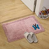 Butterfly embroidery design chenille non-slip area rug,Shower rug mat water absorbent fast drying for kitchen Bedroom Living room Hotel Spa tub Door mat-D 45x120cm(18x47inch)
