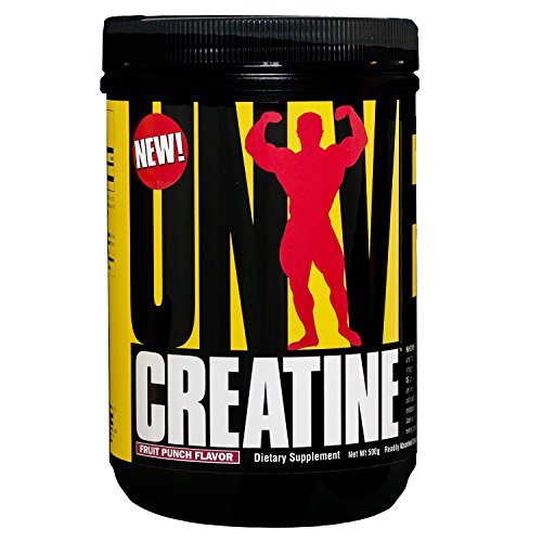 Universal Nutrition 100% Pure Flavored Creapure Creatine Monohydrate Powder, Fruit Punch, 500 Gram