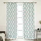 Best Home Fashion Reverse Moroccan Faux Silk Blackout Curtain – Stainless Steel Nickel