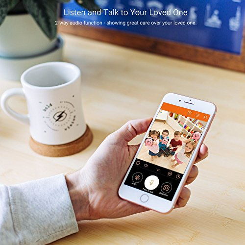360 Degree Panoramic Camera WiFi Indoor IP Camera with Clear Night Vision 2-way Audio Motion Detection 960P Home Security Camera System for Baby Kids with iOS/Android APP for Remote Monitoring by TimeOwner (Image #3)