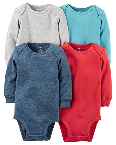 Carters 4 pack Long sleeve Bodysuits Stripes