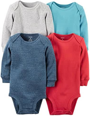 Carter's Baby Boys 4-pack Long-sleeve Bodysuits (Stripes)