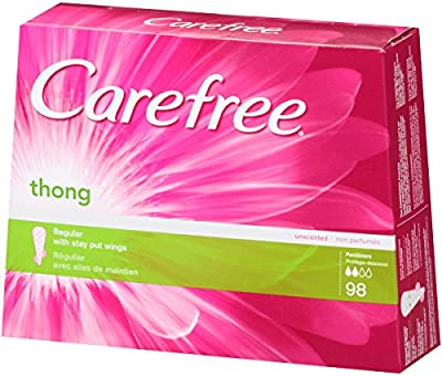 Carefree Thong Pantiliners, Regular Protection, Unscented, 98-Count Box